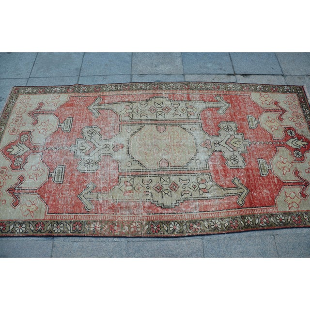 Bohemian Floor Wool Rug - 3′6″ × 7′4″ - Image 4 of 6