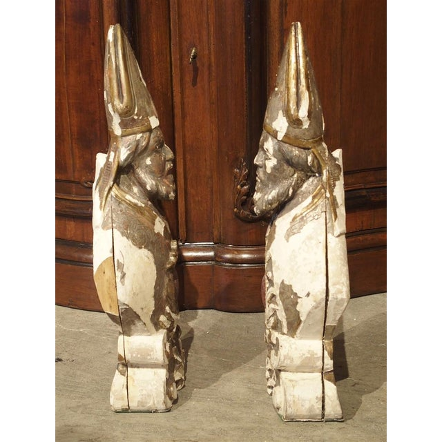 17th Century Carved and Parcel Silvered 17th Century Bishops, Lazio Italy - a Pair For Sale - Image 5 of 13