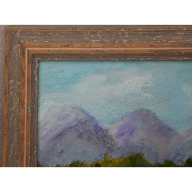 Framed Mountain Landscape Oil Painting - Image 7 of 9