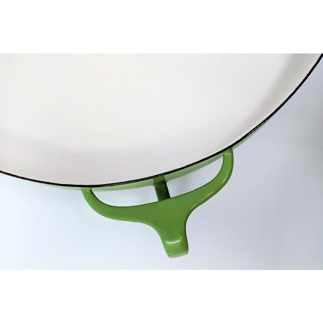 1950s 1955 Danish Modern Jens Quistgaard Dansk Ihq Kobenstyle Lime Green Paella Pan For Sale - Image 5 of 8