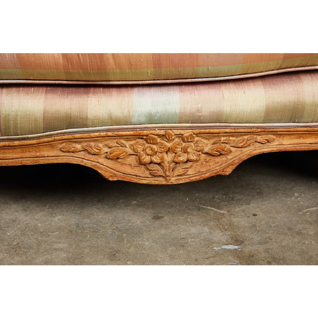 20th Century Louis XV Style Carved Wood Sofa or Daybed For Sale - Image 4 of 13