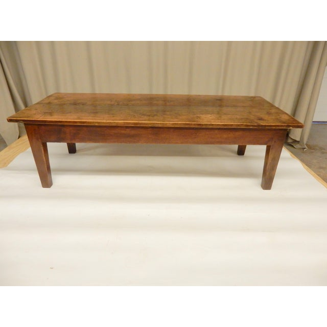 19th Century French Walnut Farm/Coffee Table For Sale In New Orleans - Image 6 of 6