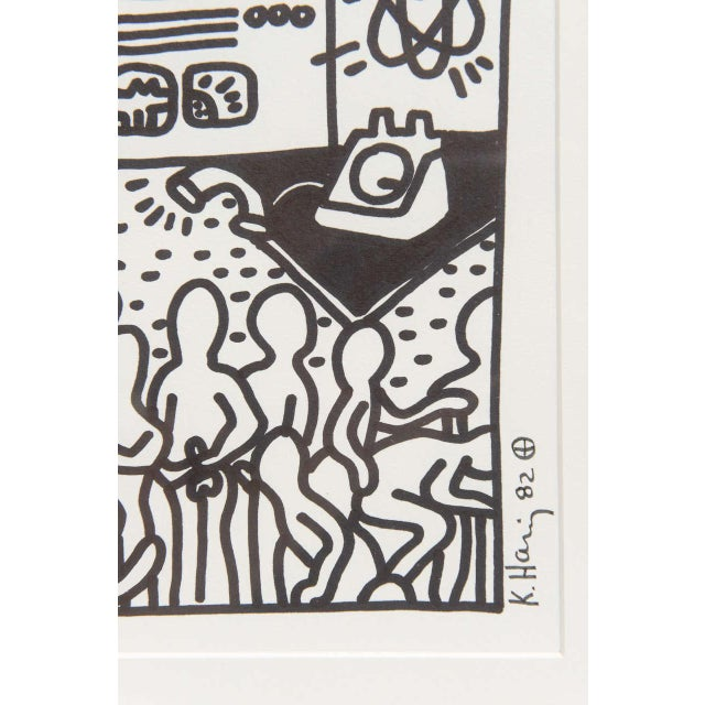 Keith Haring Serigraph, New York 1982 For Sale - Image 9 of 9