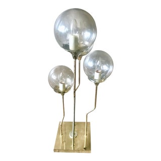 1970s Mid Century Modern Goffredo Reggiani Four Globe Table Lamp For Sale