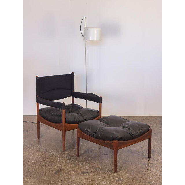 Wood Kristian Vedel Modus Rosewood Ottoman For Sale - Image 7 of 8