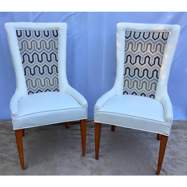 1930s 1930s French Art Deco Chevron Side Chairs - a Pair For Sale - Image 5 of 13