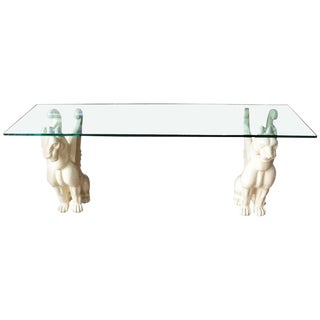 20th Century Neoclassical Chimera Grotesque Console Table For Sale