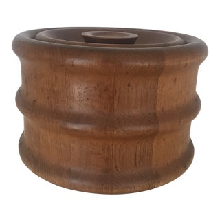 Mid-Century Kalmar Designs Danish Teak Ice Bucket For Sale