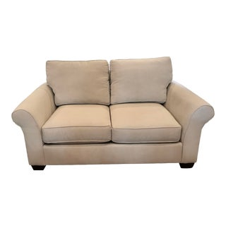 Pottery Barn Comfort Roll Arm Loveseat For Sale