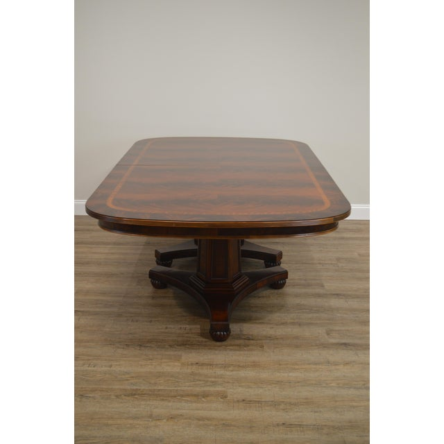 Henredon Historic Natchez Collection Flame Mahogany Regency Dining Table For Sale - Image 10 of 12