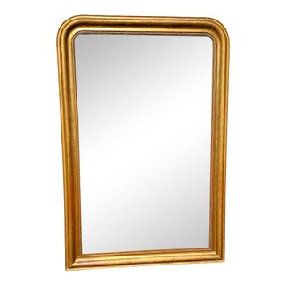 Large Antique French Mirror in Gold Leaf For Sale