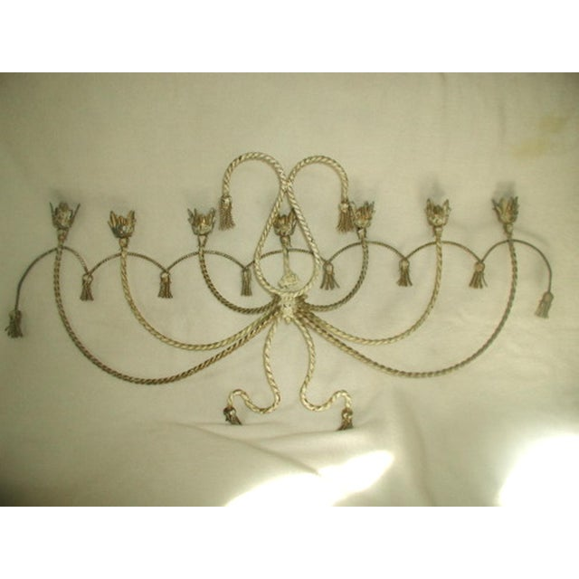 Metal Antique Early 1900's Italian 7 Candle Candelabra Sconce For Sale - Image 7 of 7
