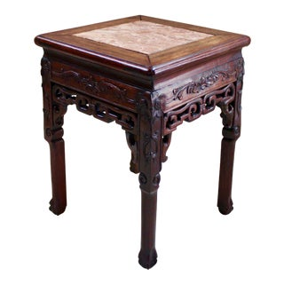 20th Century Asian Rosewood Tabouret For Sale