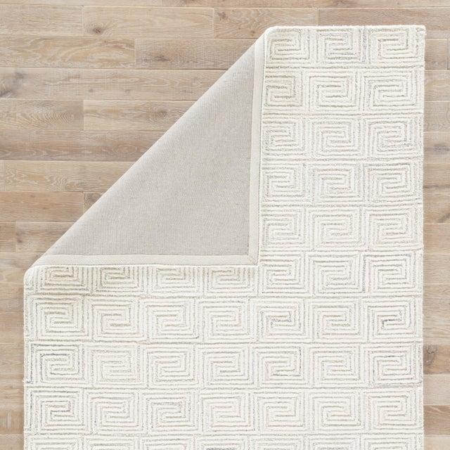 Jaipur Living Harkness Handmade Geometric White/ Gray Area Rug - 8′ × 11′ For Sale - Image 4 of 6
