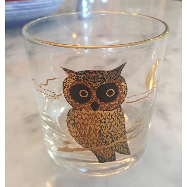 Mid-Century Modern 1960s Couroc of Monterey Owl Glasses - Set of 8 For Sale - Image 3 of 8