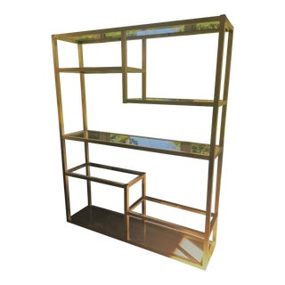 vintage used glass bookcases and tag res chairish. Black Bedroom Furniture Sets. Home Design Ideas