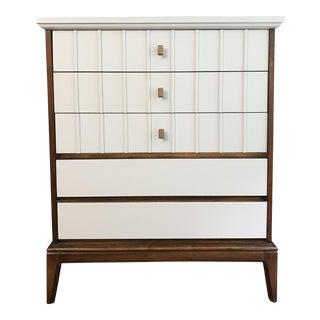 Dixie Mid-Century Modern Highboy Dresser