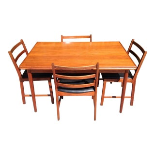 Mid Century Danish Modern Dining Set W/Four Chairs