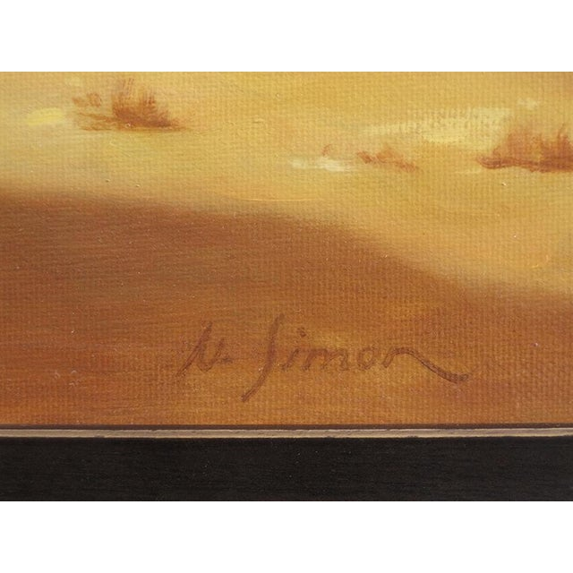 """Ute Simon """"Sunset Over Moon"""" Horse Painting - Image 5 of 6"""