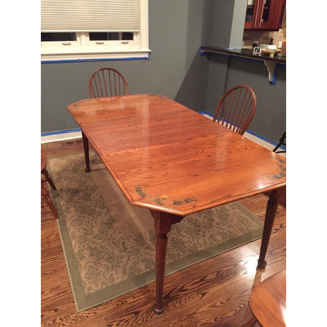 L. Hitchcock Classic Briarcliffe Extension Dining Set For Sale - Image 9 of 11