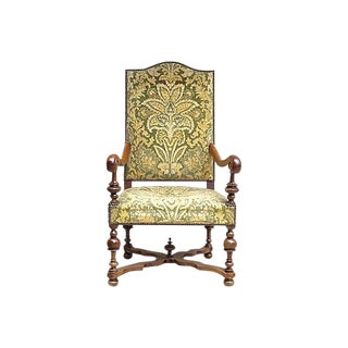 Antique Louis XIV-Style Upholstered Armchair For Sale