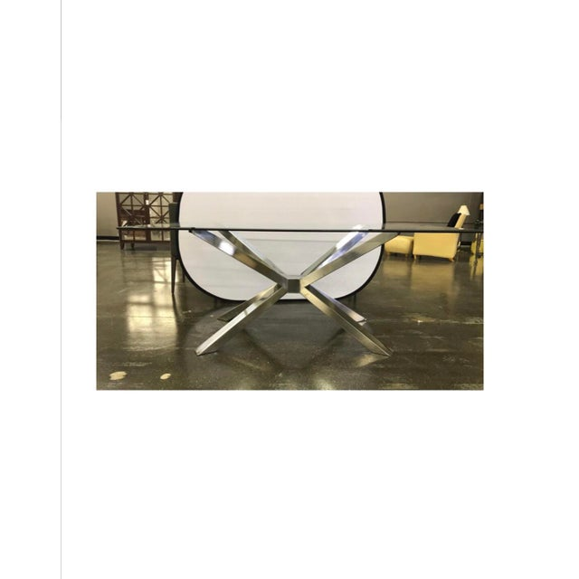 Contemporary Glass and Chrome Dining Table and 4 Calligaris Chairs Set For Sale - Image 3 of 13