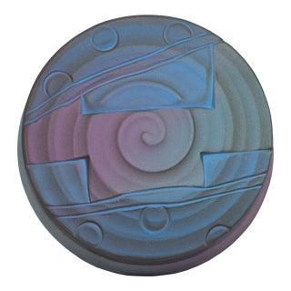 Jim Kemp Signed Studio Pottery Postmodern Round Box For Sale