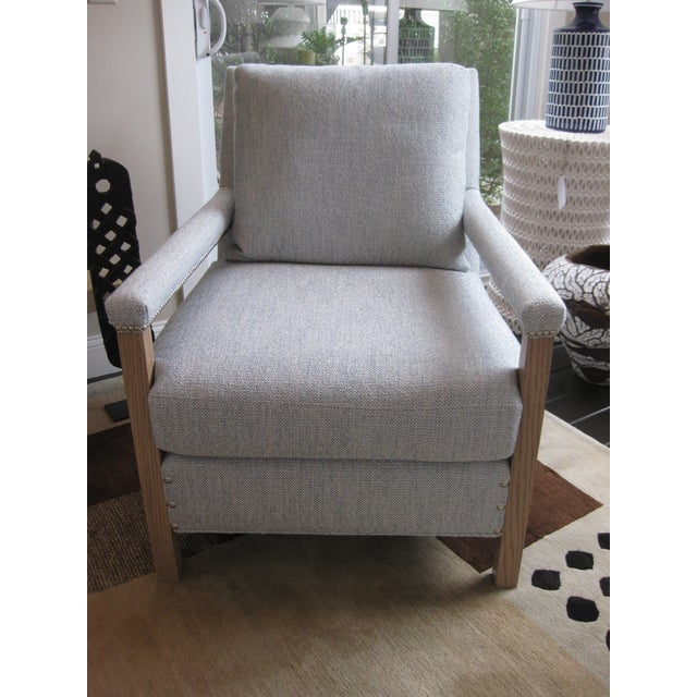 Modern designed Liam Chair by CR Laine. Chair looks great next to a fireplace or in a bedroom! 36 inches high x 29.5...