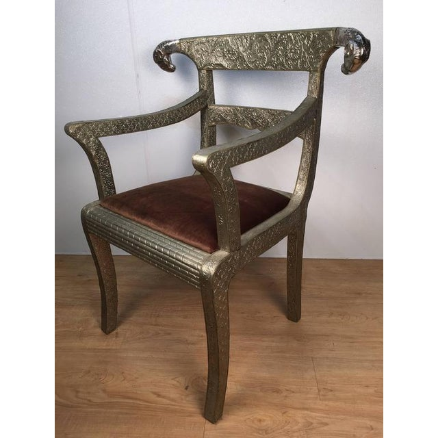 Anglo-Indian Ram's Head Armchair For Sale - Image 5 of 7