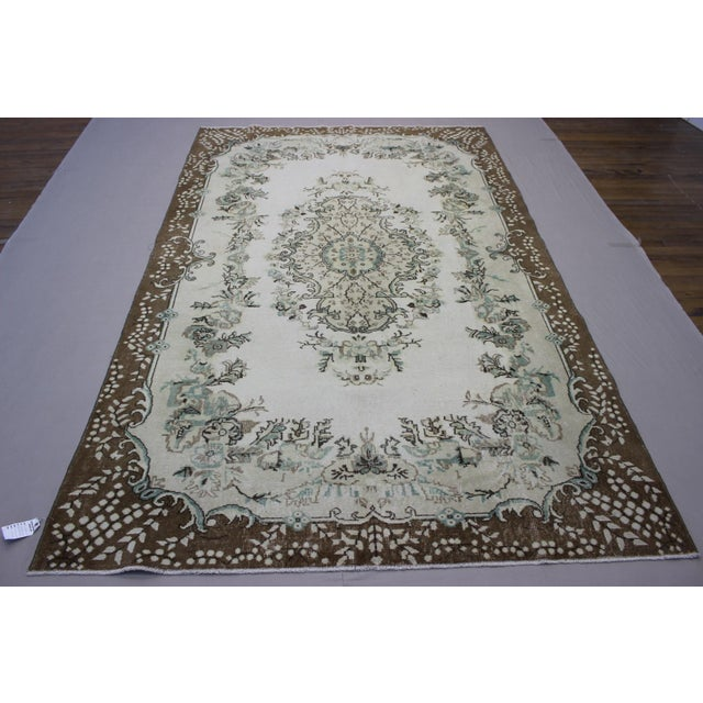 Hand Woven Overdyed Vintage Rug - 6′8″ × 10′4″ - Image 2 of 6