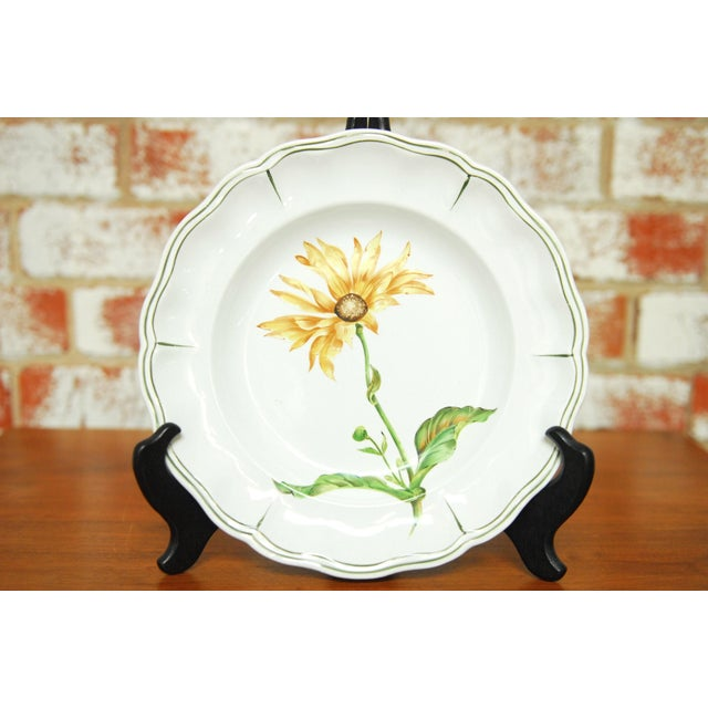 """Set of 66 French Luneville Hand-Painted Floral Dining Plates """"Rovina Epinal"""" For Sale In San Francisco - Image 6 of 11"""