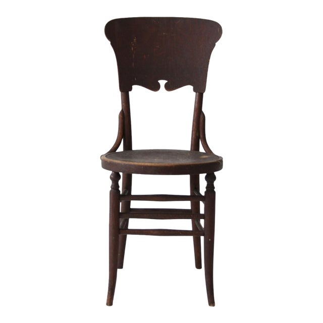 Antique Round Seat Chair For Sale
