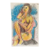 Image of Don't Look at This Female Nude by James Bone 1990s For Sale