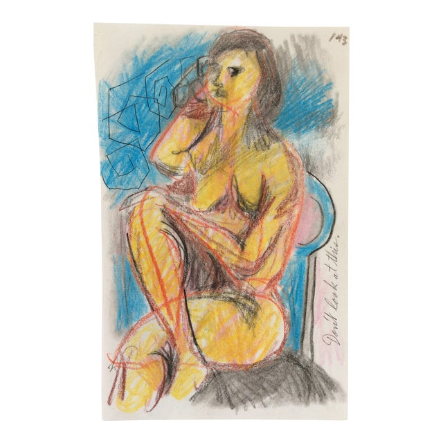 Don't Look at This Female Nude by James Bone 1990s For Sale