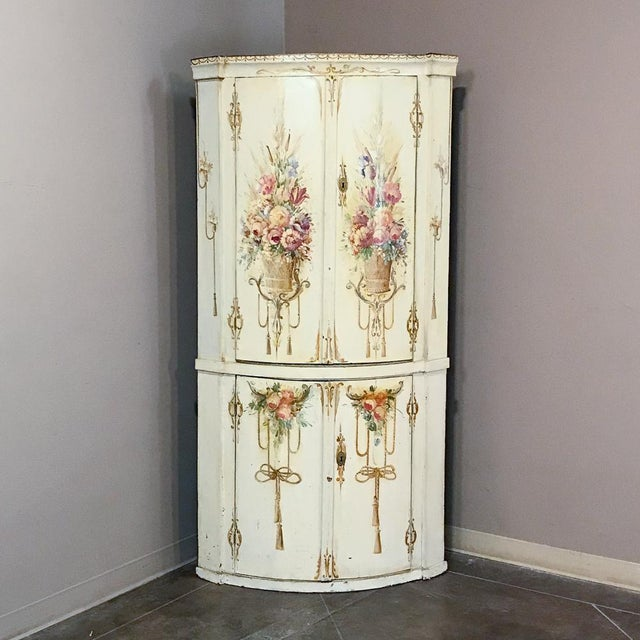 19th Century Swedish Painted Corner Cabinet For Sale - Image 13 of 13