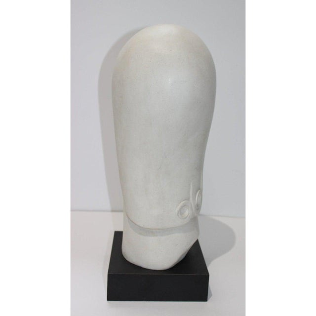 Vintage Art Deco Revival Fisher Sculpture Woman's Head Austin Productions Reproduction For Sale In West Palm - Image 6 of 12