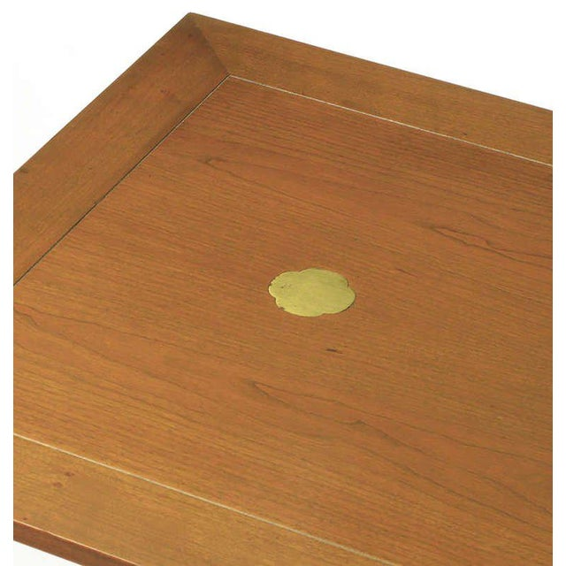 Brass Baker Serving Table with Removable Tray and Butterfly Top For Sale - Image 7 of 9
