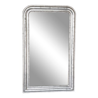 19th Century Louis Philippe Silver Leaf Mirror For Sale