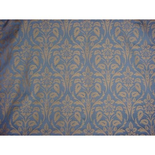 Kravet Couture Framed Bouquet Sapphire Damask Upholstery Fabric- 16-1/2 Yards For Sale