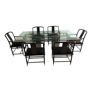 Brueton Mandarin Dining Set - 7 Pieces For Sale