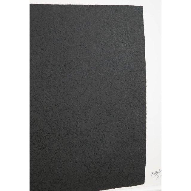 "Black Richard Serra Work on Paper ""Leo"", From ""Leo Castelli 90th Birthday Portfolio"" For Sale - Image 8 of 10"