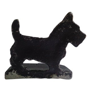 Vintage Scottish Terrier Dog Doorstop Bookend or Paperweight For Sale