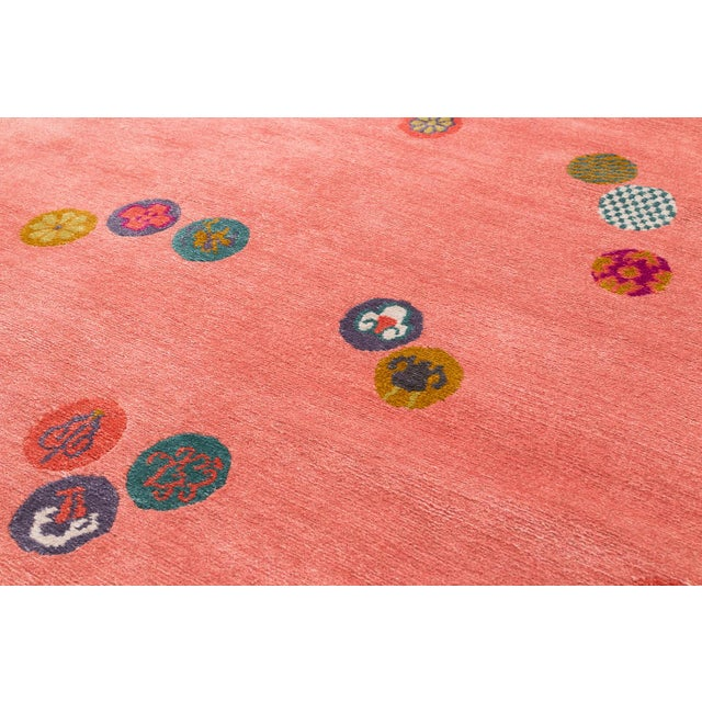 Carini Wool and Silk Rug- 3′ × 6′ For Sale In New York - Image 6 of 9