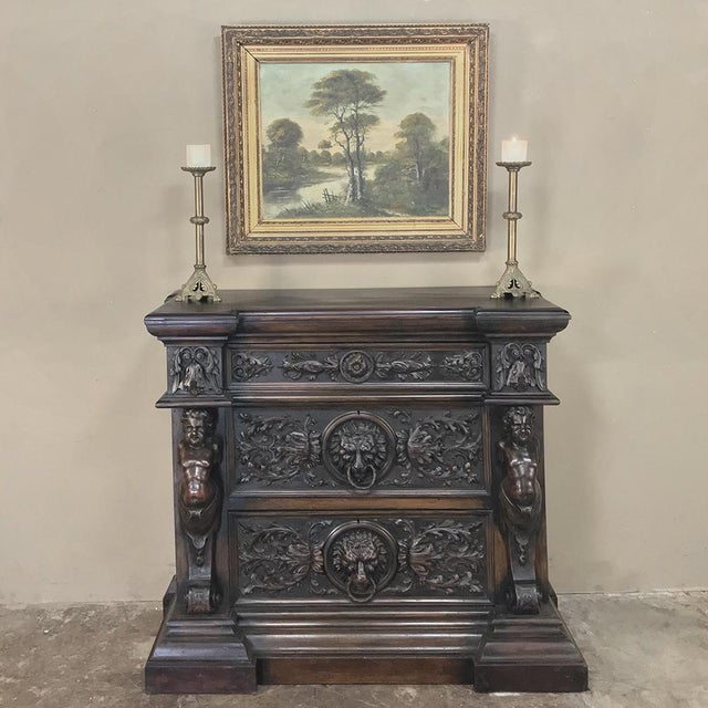 Figurative 19th Century Italian Renaissance Commode For Sale - Image 3 of 13