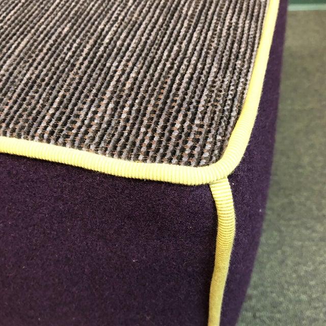 Modern Modern Gervasoni for Environmental Designs Purple Fabric Upholstered Ottoman For Sale - Image 3 of 10