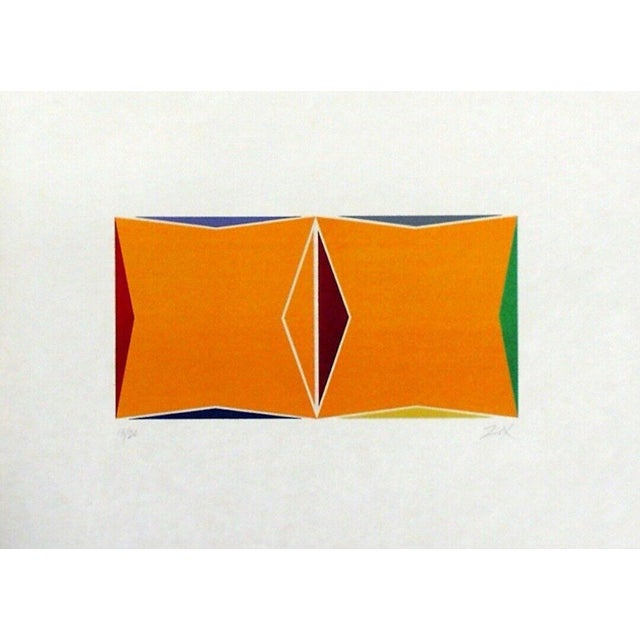 Pop Art Larry Zox Two Square Composition 1978 For Sale - Image 3 of 3