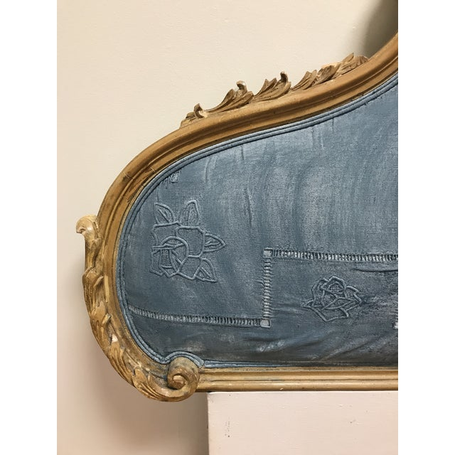 Hollywood Regency Rococo Carved Pine Queen Size Headboard For Sale - Image 6 of 11