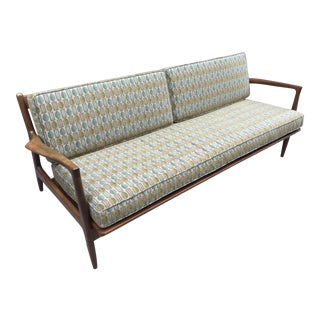 Ib Kofod-Larsen Teak Sofa by Selig Denmark For Sale