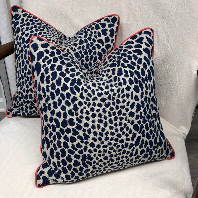 Contemporary Square Animal Print Pillows - a Pair For Sale - Image 11 of 11