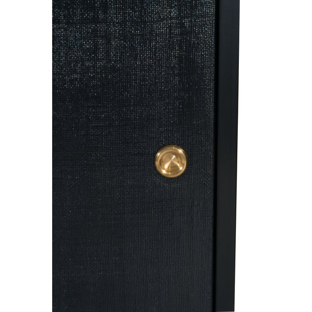 Mid-Century Modern Bishop Linen Door Console For Sale - Image 3 of 6